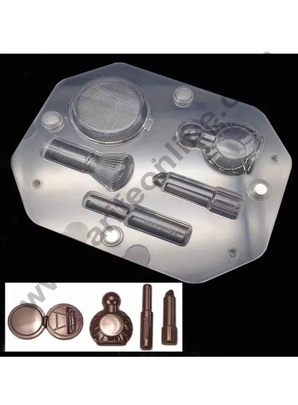 Cake Decor Polycarbonate 3D Make Up Kit Chocolate Mold Cake Decorating Chocolate Mould Tools