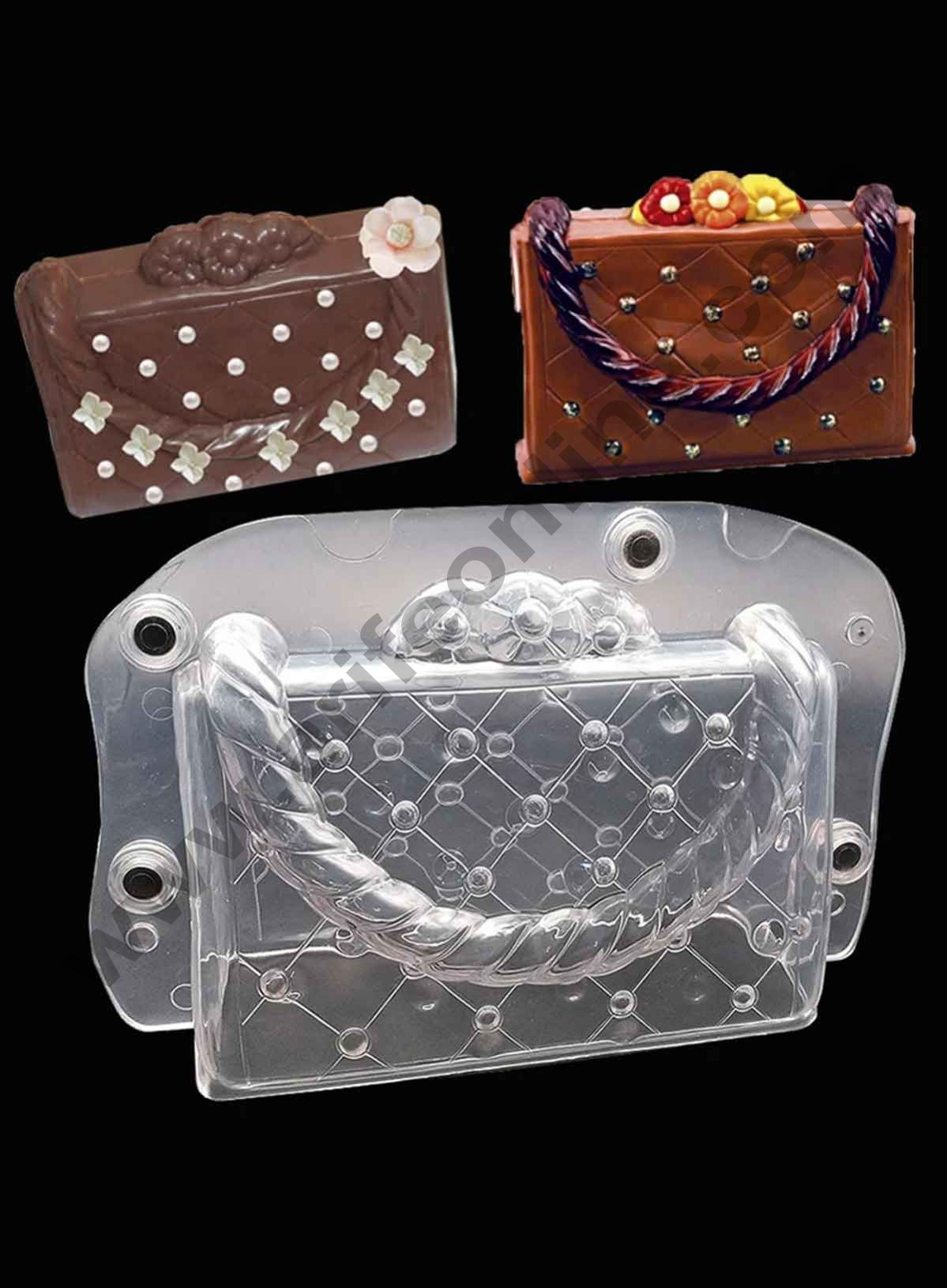 Cake Decor Polycarbonate 3D Ladies Purse Wallet Chocolate Mold Cake Decorating Chocolate Mould Tools
