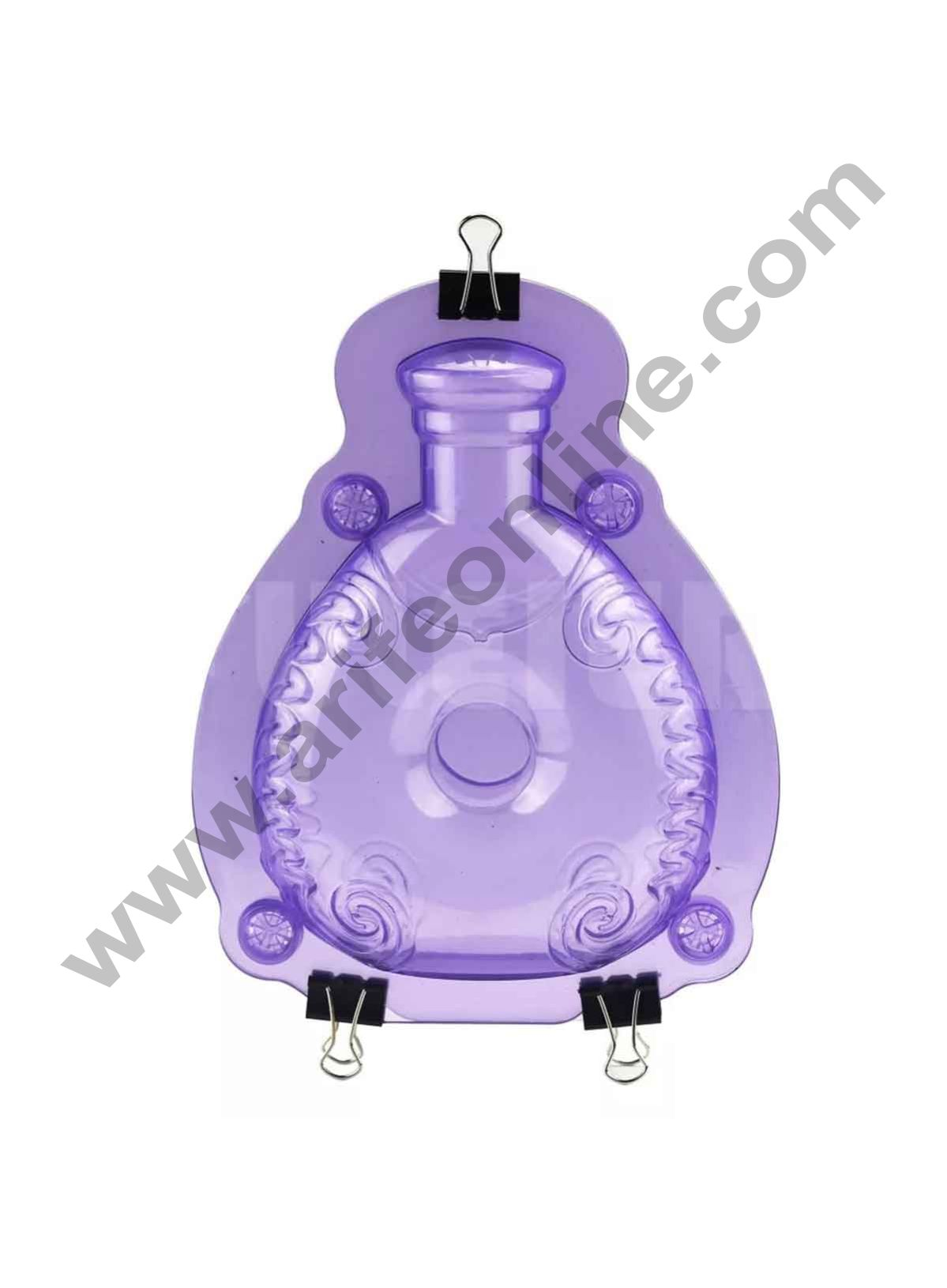 Cake Decor Polycarbonate 3D Perfume Bottle Chocolate Mold Cake Decorating Chocolate Mould Tools