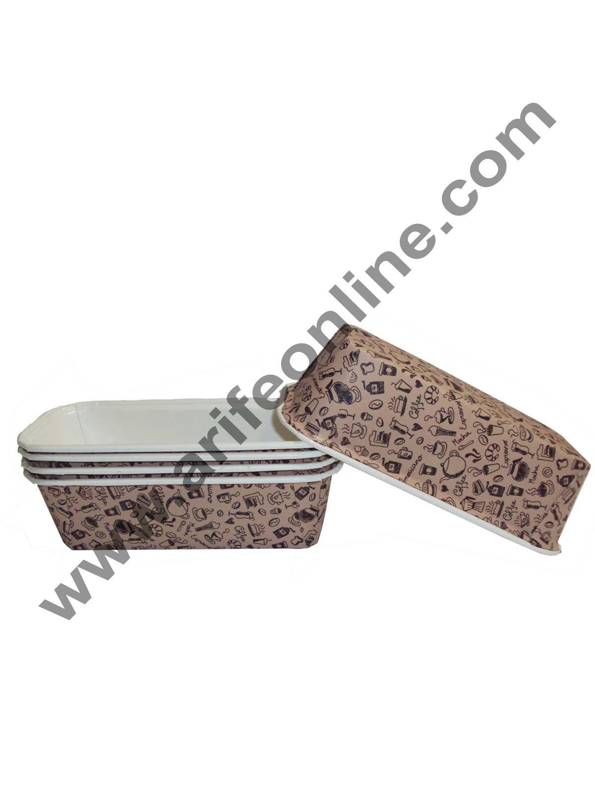 Novacart Bake & Serve Paper Baking Mould By Cake Decor - Plum Cake Mould Brown 10 Pcs
