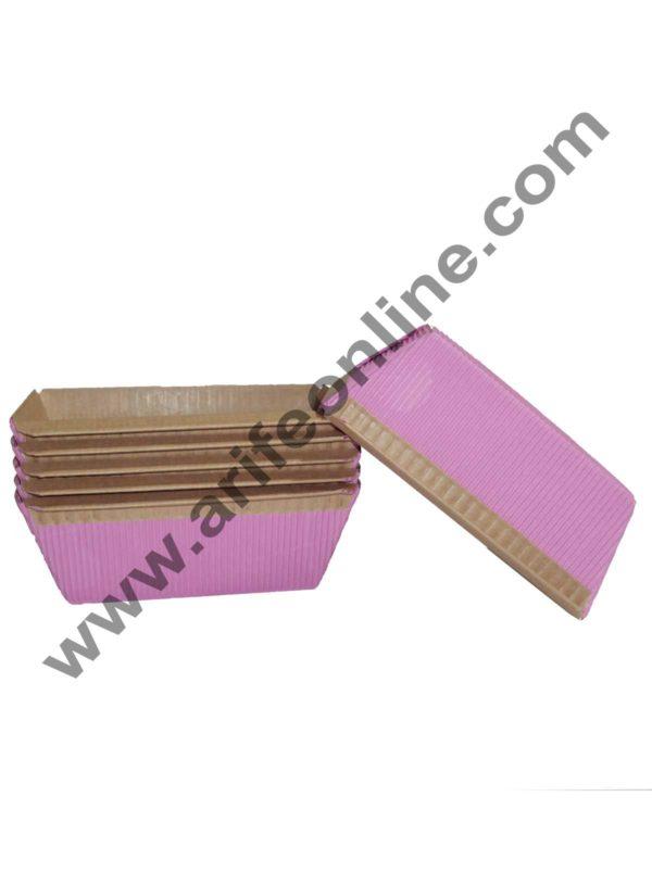 Novacart Bake & Serve Paper Baking Mould By Cake Decor – Plum Cake Mould Pink 10 Pcs 1