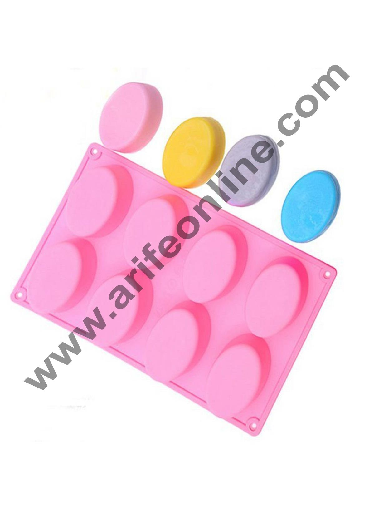 Cake Decor 8 Cavity Silicone Half Egg Shape easter moulds for Soaps Chocolate Jelly Desserts All Purpose Baking Mould (Soap Weight Approx: 70 Grams Per Cavity)