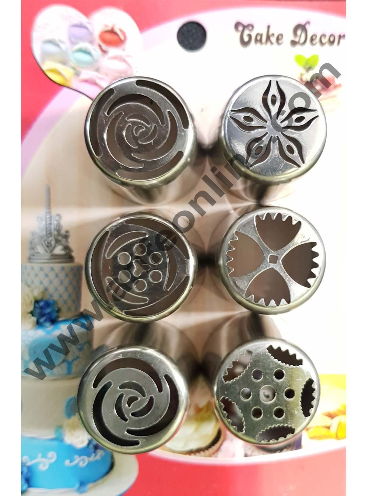 Cake Decor 6Pcs Russian Nozzle Set