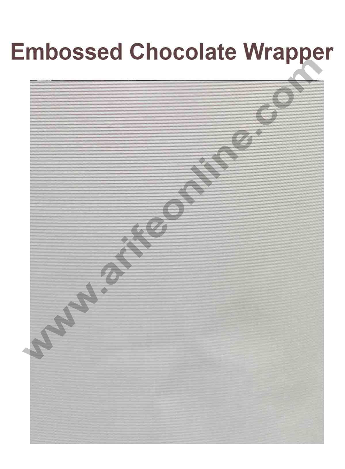 Cake Decor Chocolate Wrappering Foil, Embossed Chocolate Wrapper, 200 Sheets - 10in x 7in -White