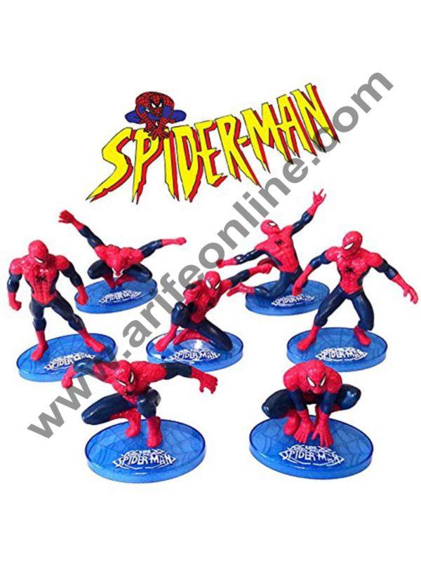 Cake Decor Ultimate Spider man CAKE TOPPER Superhero 7 Figure Set Birthday Party Cupcakes Figurines Marvel Comics 1