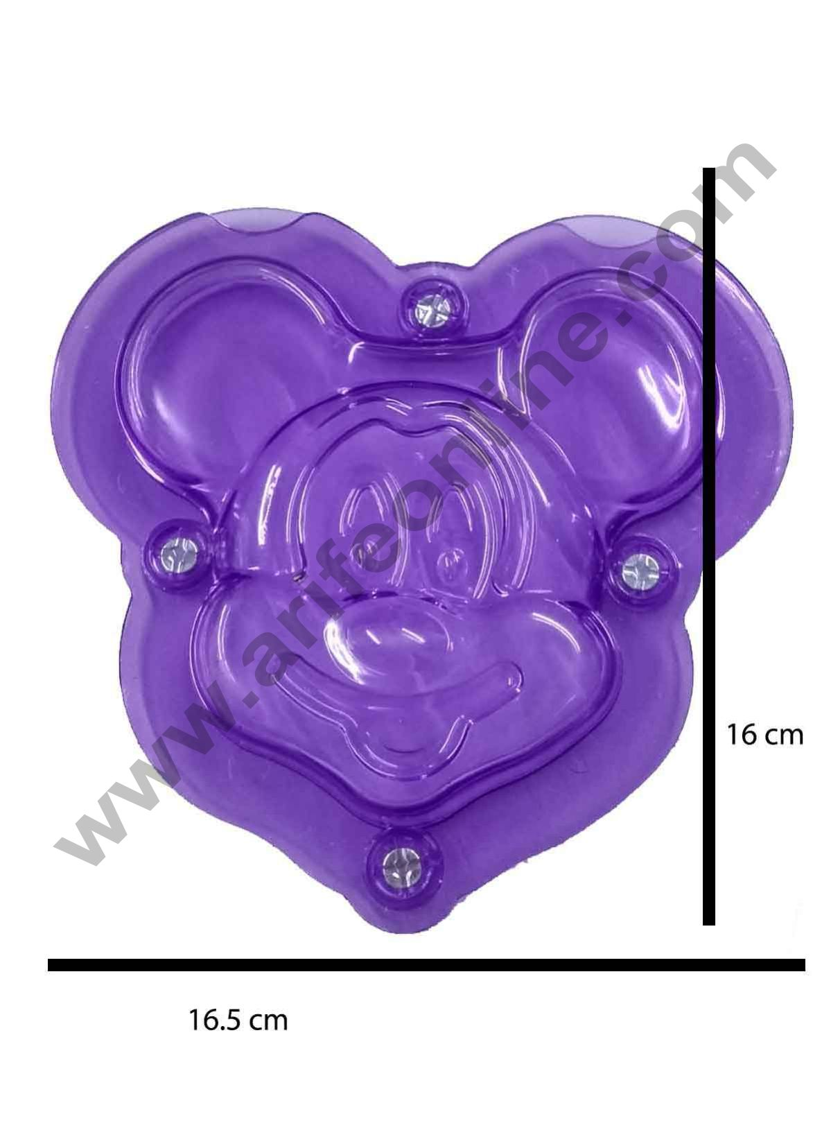 Cake Decor Polycarbonate 3D Mickey Mouse Face Chocolate Mold Cake Decorating Chocolate Mould Tools