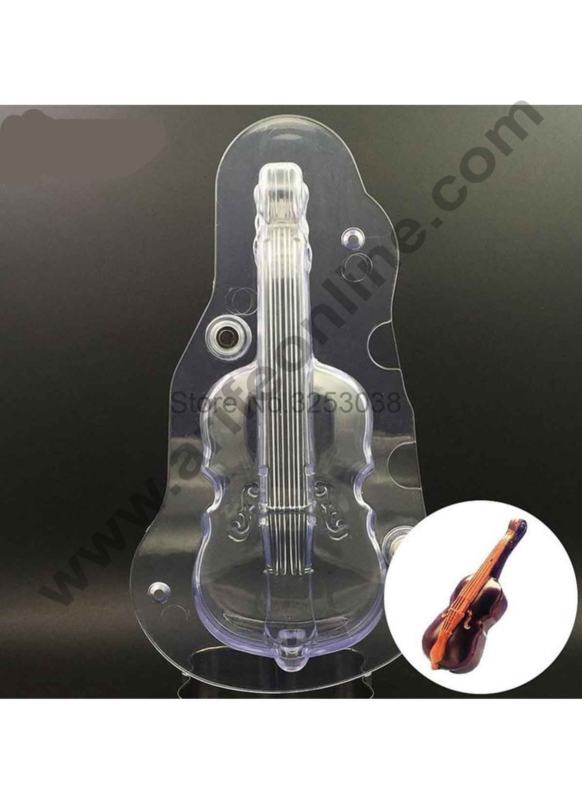 Cake Decor Polycarbonate 3D Guitar Chocolate Mold Cake Decorating Chocolate Mould Tools