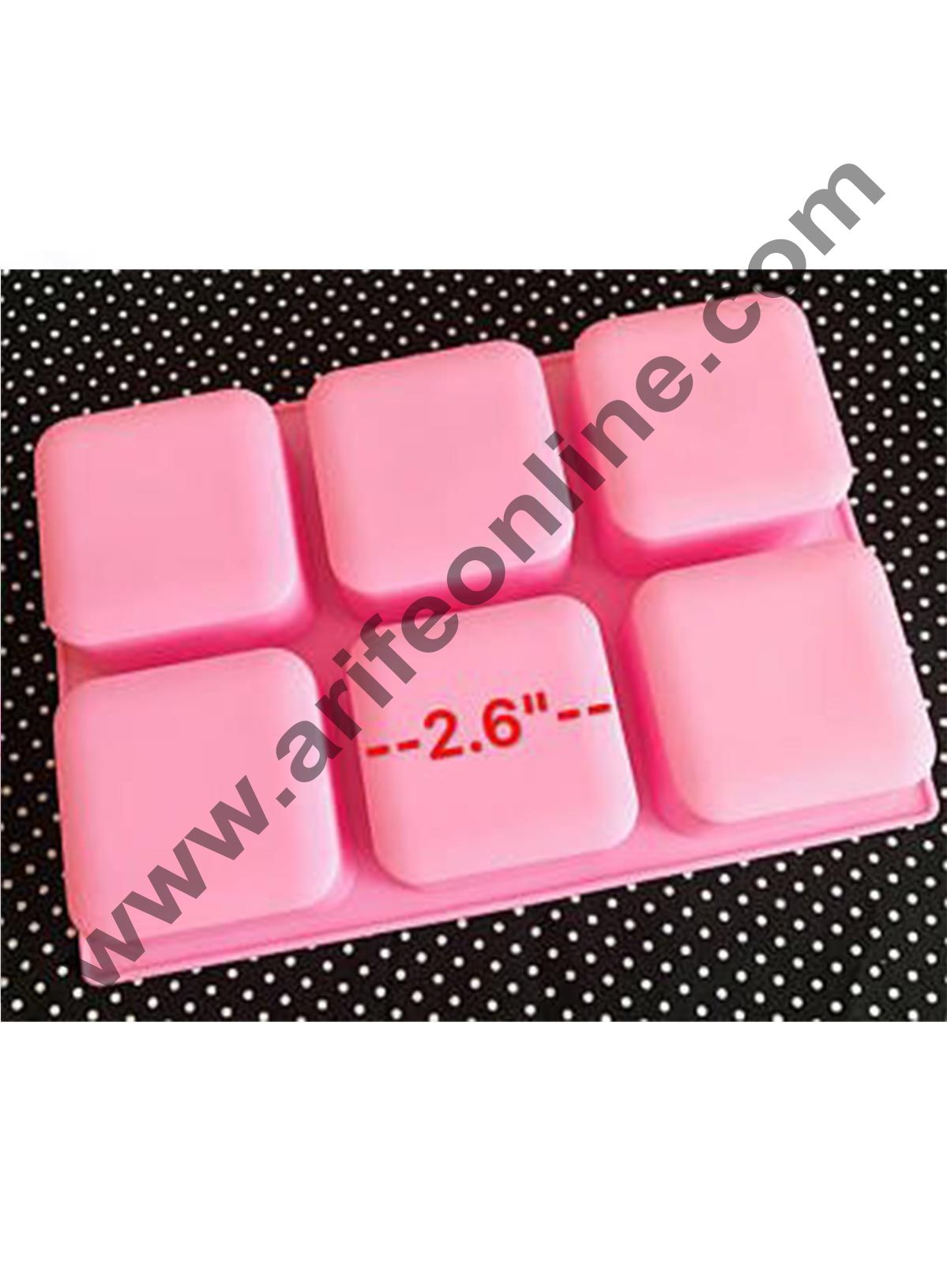 Cake Decor 6 Cavity Basic Square Design Homemade Melt and Pour Soap Cold Process Soap Muffins All Purpose Mould ; Soap Weight : Approx 120 Grams