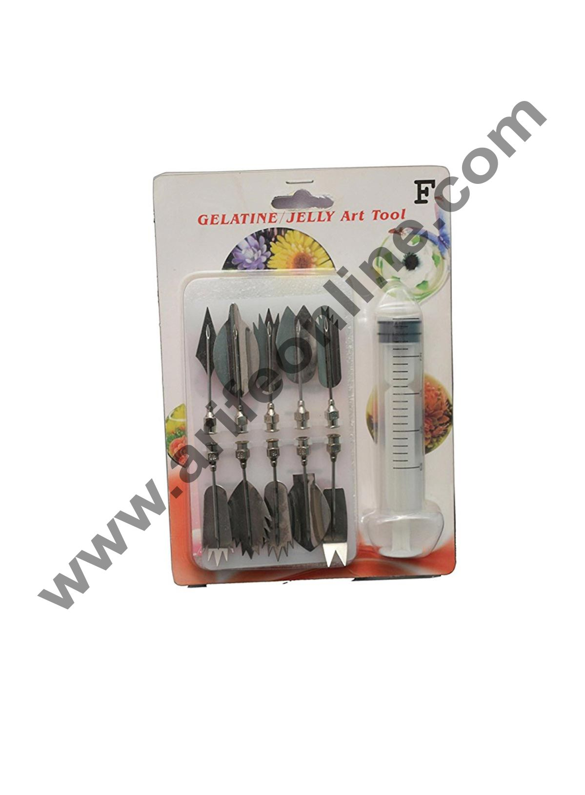 Cake Decor Jelly Gelatin Art Tool 10Pc Set With 1 Syringe ( Jelly Tool Code J )