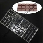 Cake Decor Polycarbonate Chocolate Bar Mould Clear Hard Plastic Candy Mold 1