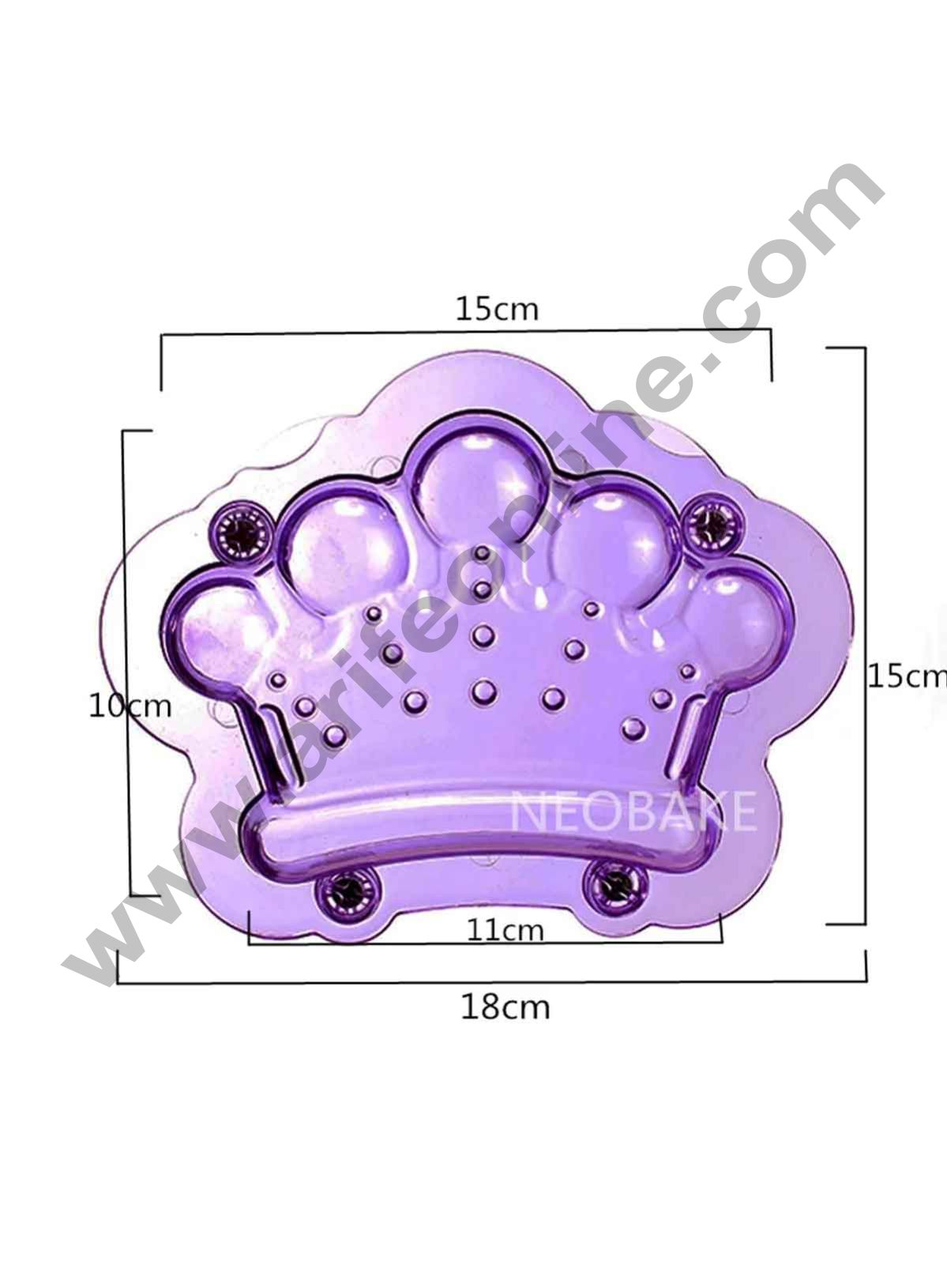 Cake Decor Polycarbonate 3D King Queen Crown Chocolate Mold Cake Decorating Chocolate Mould Tools