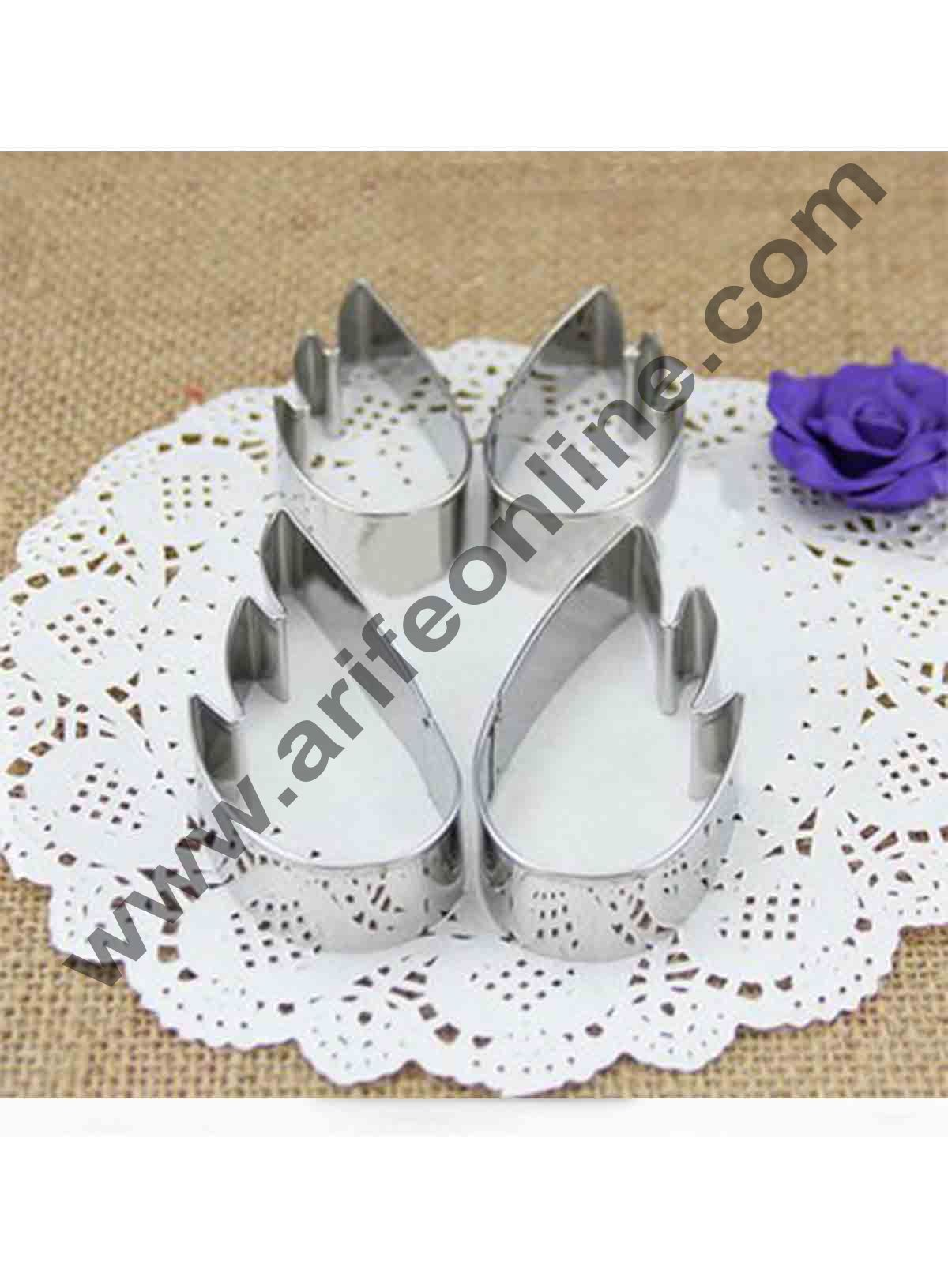 Cake Decor Angel Wings Stainless Steel Cookie Cutter, Cutter Bakeware Mould Biscuit Mould Set Sugar Arts Fondant Cake Decoration Tools