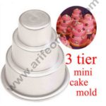 Cake Decor 1Pcs New Cake Trays Mini 3 Tier Cake Pan Tins Cupcake Pudding Pizza Molds Home Birthday Party Decors Supplies 1