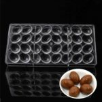 Cake Decor Chocolate Egg Mold Polycarbonate Chocolate Moulds Baking Pastry Tools Plastic Chocolate Mold Kitchen Bakeware Supplies 1