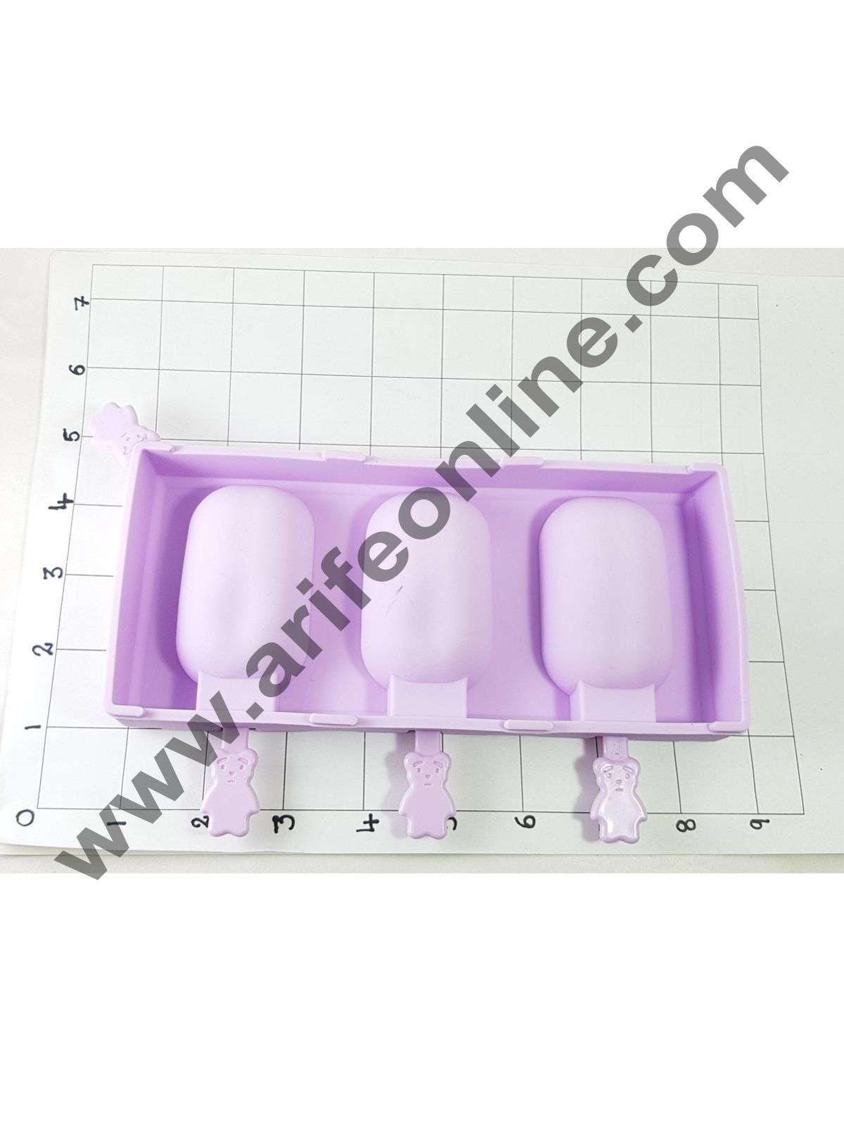 Cake Decor 3 in 1 Silicone Ice Cream Mold Wave Section Popsicle And Cakesicle Molds Tools With Dust Cover Sticks Frozen Mold Kitchen Accessories