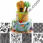 Cake Decor Set of 6 Different Texture Sheet Hawaiian Texture Buttercream Mat Cupcakes Cookies Fondant Molds for Cakes Decorating Tools 1
