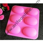 Cake Decor 6 Cavity Silicone Half Egg Shape easter moulds for Soaps Chocolate Jelly Desserts All Purpose Baking Mould (Soap Weight Approx: 70 Grams Per Cavity)