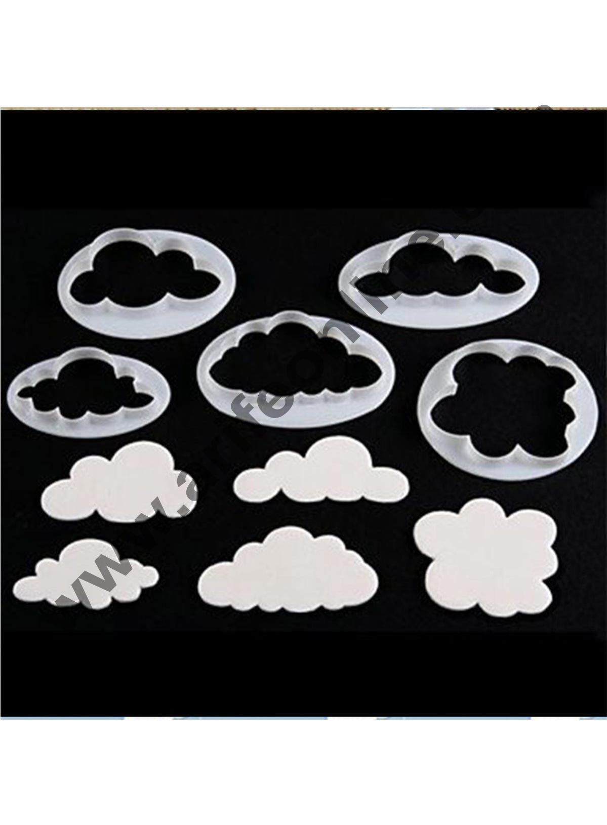 Cake Decor 5PCS Different Plastic Fluffy Cloud Cutters Cookie Cutters Cake Cutters Fondant Cloud Cutters