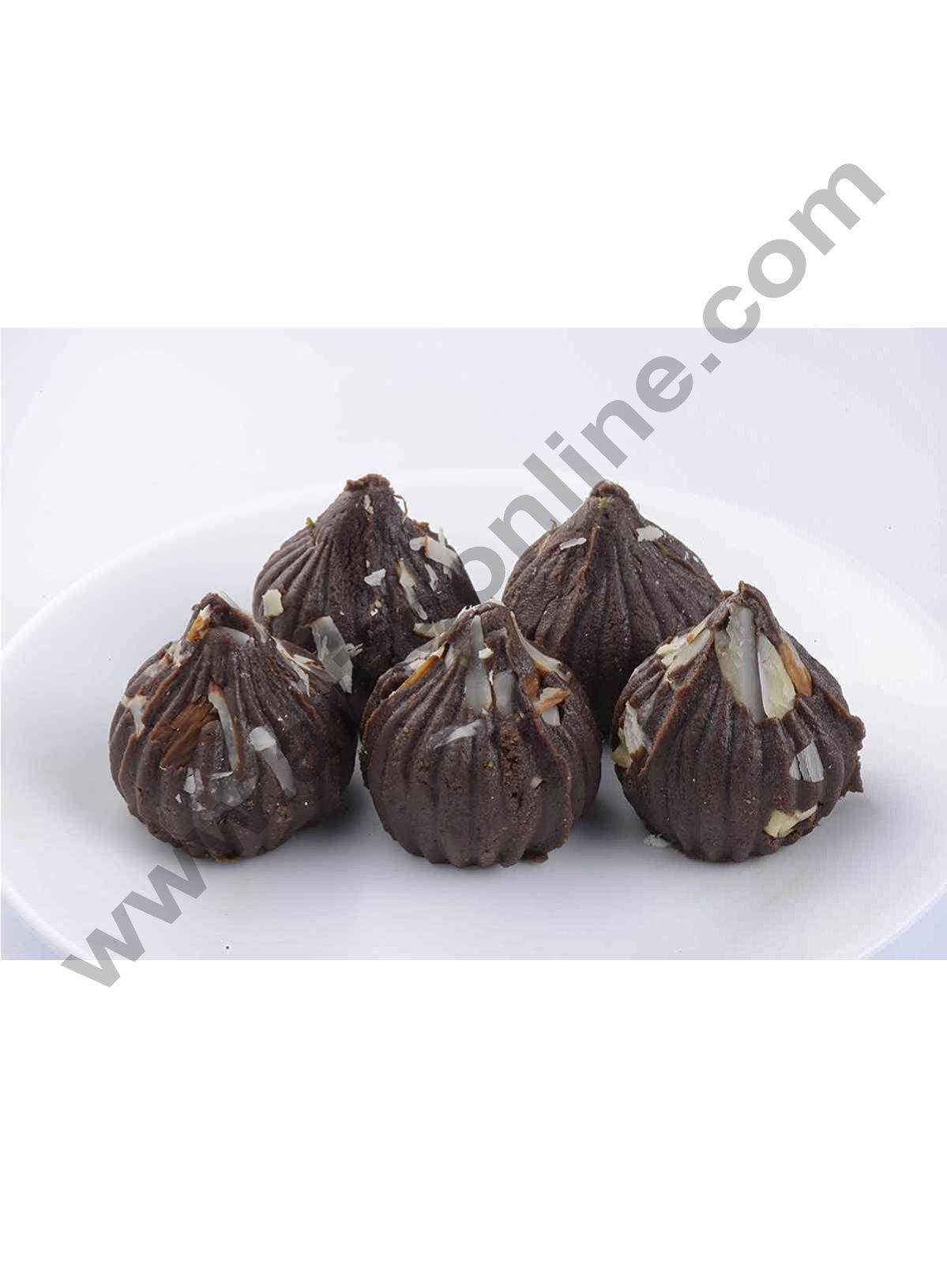 Cake Decor New Modak Shape 8 Cavity Chocolate Mould, Silicone Molds for Chocolate, Chocolate Silicone Moulds, Silicon Brown Chocolate Moulds for Ganesh Chaturti Festivals