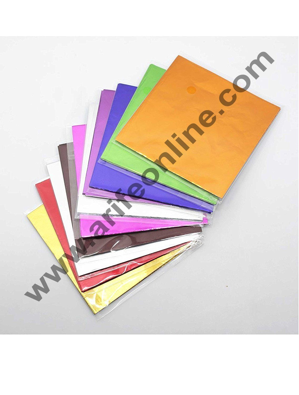 Cake Decor Metallic Plastic Chocolate Wrapper, Multicolour