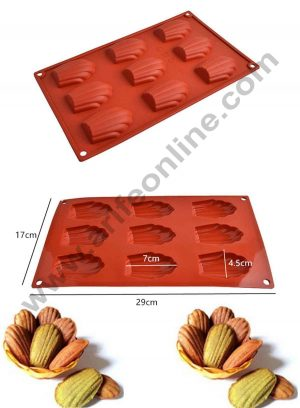 9 cavity Madeleine Silicon Mould