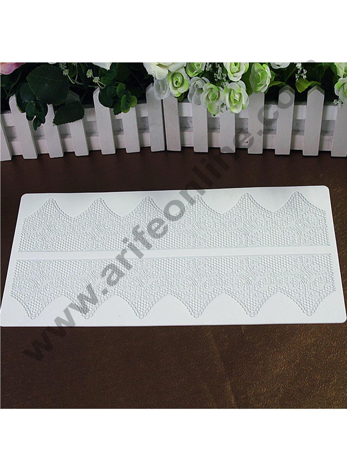 Cake Decor Silicone Mold Fondant Silicone Lace Mat Cake Edge Decoration Cake Decorating Pastry Tools Baking Mat Pad Sheet