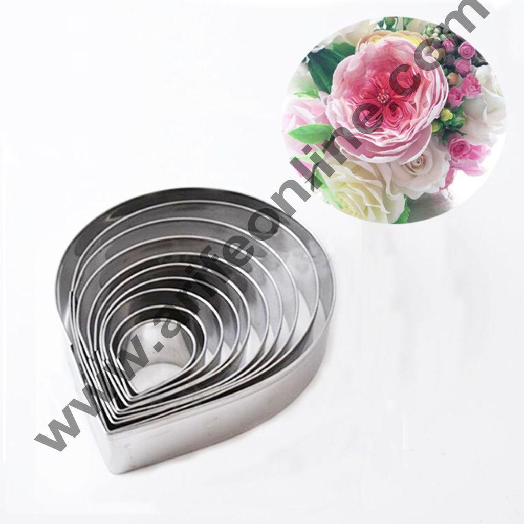 Cake Decor 11 Pcs Big Rose Petal Cutter Set Bakeware Mould Biscuit Mould Set Sugar Arts Fondant Cake Decoration Tools
