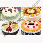Cake Decor Gold Design Flower Print Glossy Corrugated Cake Board Base 8 Inch Diameter for Half Kg Cakes- Pack of 10Pcs 3