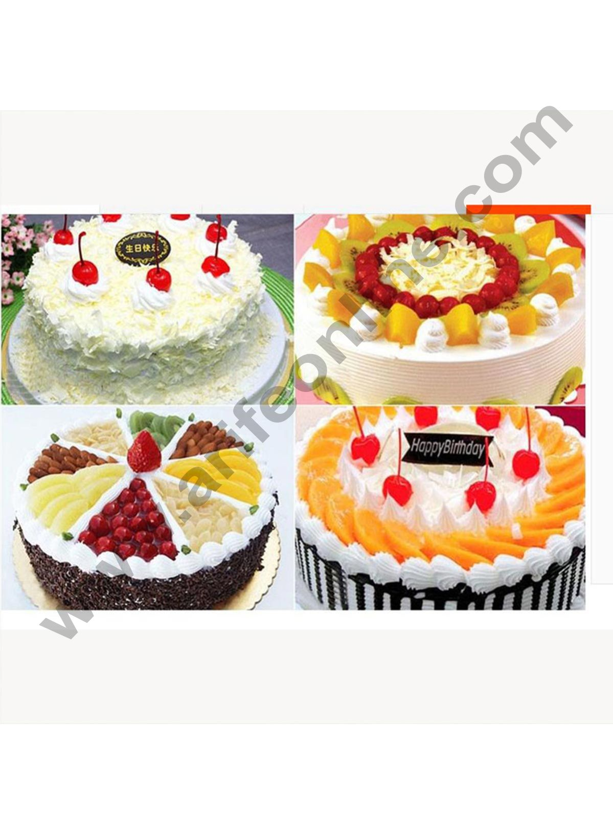 Cake Decor Gold Design Flower Print Glossy Corrugated Cake Board Base 9 Inch Diameter for Half and 1Kg Cakes- Pack of 10Pcs