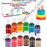 Chefmaster 12 Color Liqua-Gel Cake Color Set 1