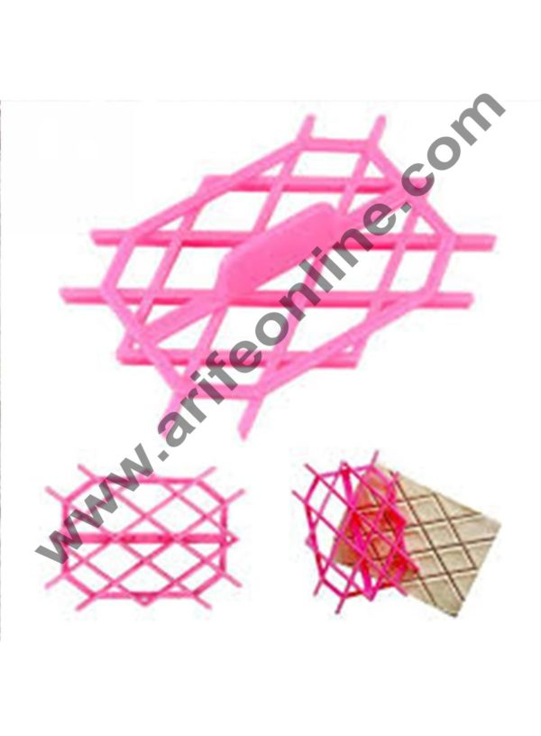 Cake Decor Fondant Quilt Square Cutter Cake Cupcake Embossing Decorating Tool Embosser cookie mold 2