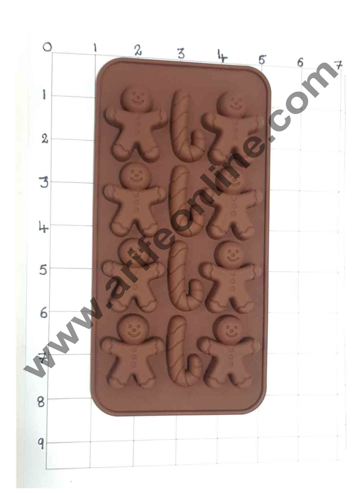 Cake Decor Silicon 12 Cavity Christmas Design Brown Chocolate Mould, Ice Mould, Chocolate Decorating Mould