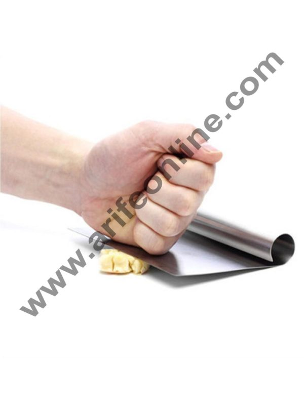 Cake Decor Stainless Steel Dough Scraper with Stainless Steel Handle 2