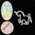 Cake Decor 1Pcs Unicorn Plastic Cookie Cutter Pastry Biscuit Mold Sugar Craft Fondant Decoration Mold Baking Tools For Cakes 2