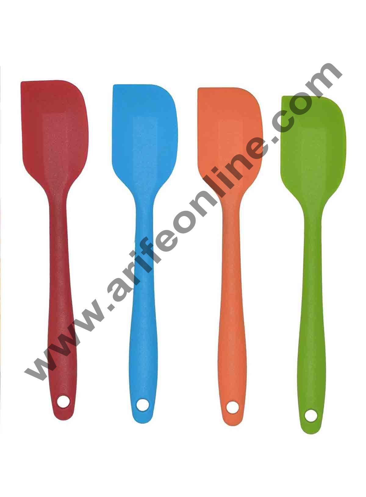 Cake Decor 1Pcs Silicone Batter Spatula Cake Cream Mixer Long Handled Models Baking Scraper Kitchen Cooking Tool Random Color