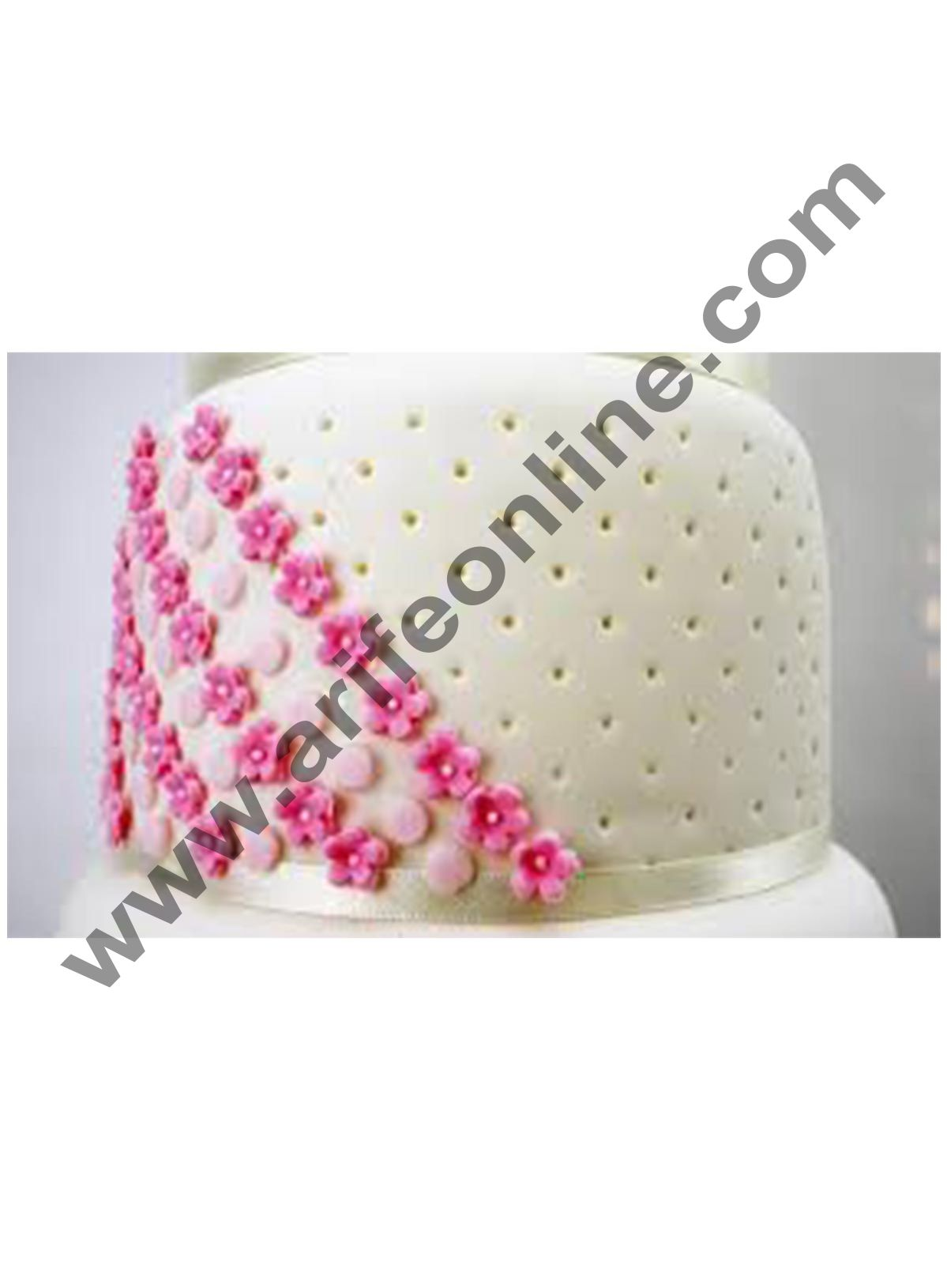 Cake Decor Press Ice Polka Dot Tool Sugar Craft Impression Tool