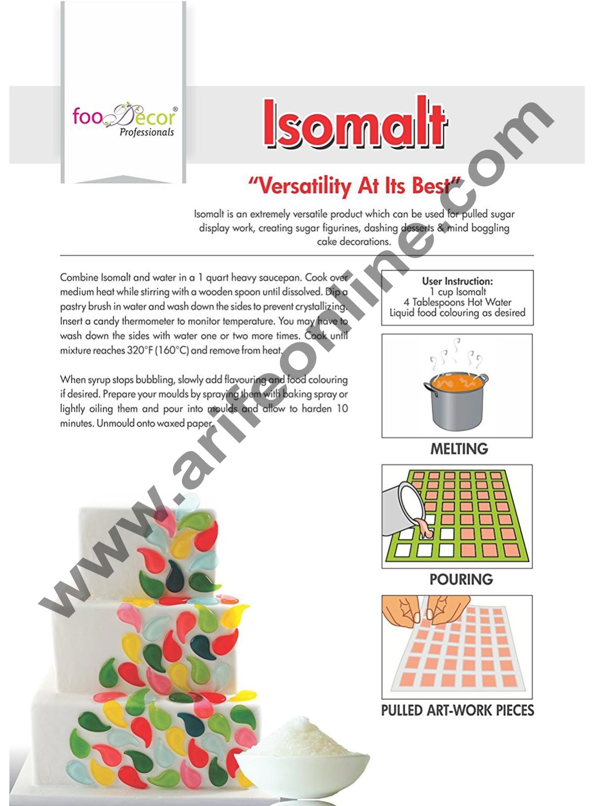Foodecor Isomalt (neutral), 125gm