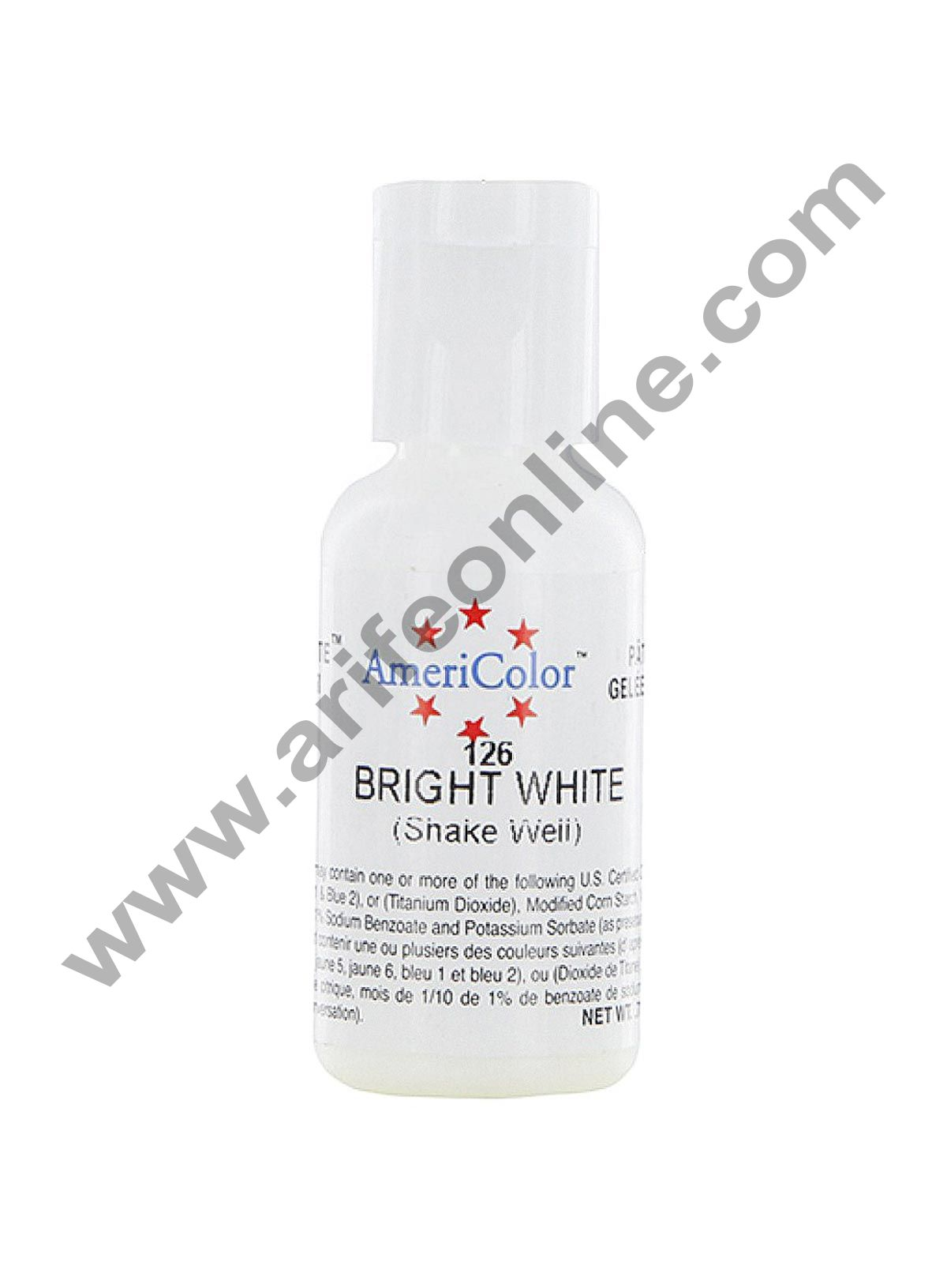AmeriColor Bright White 0.75 oz Soft Gel Paste Food Color (21g)
