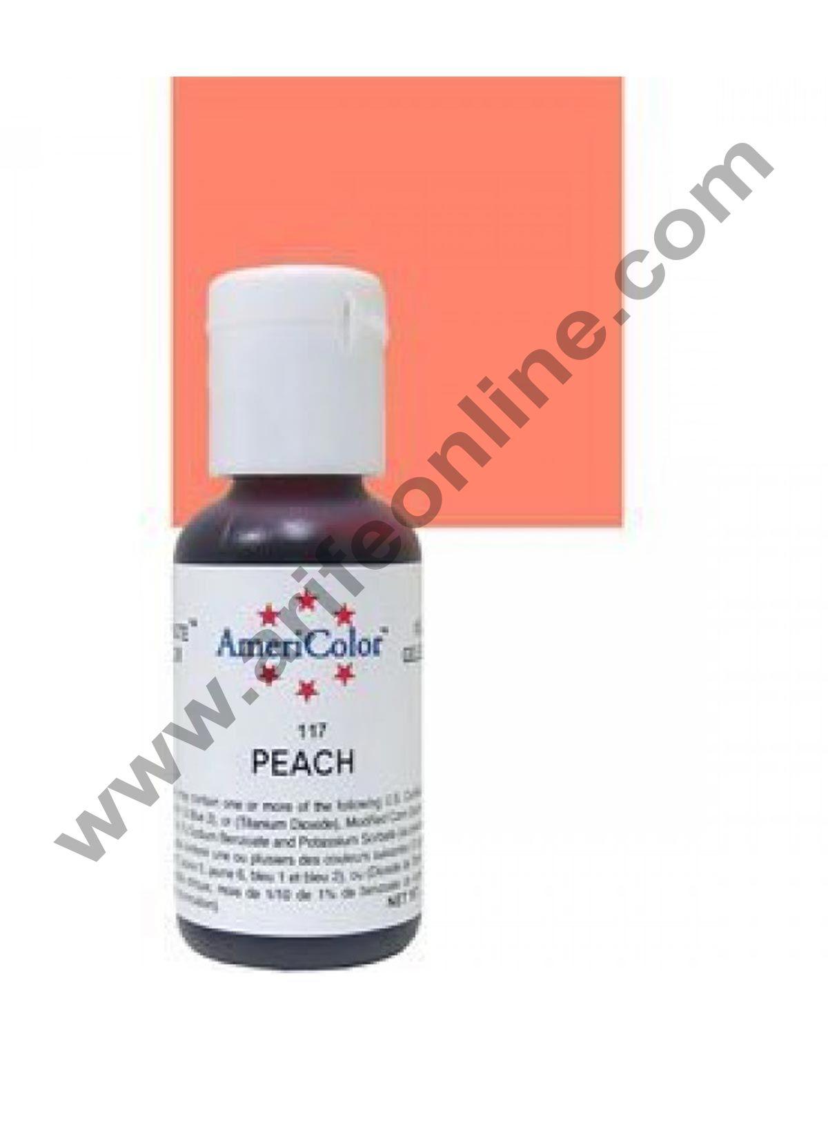 AmeriColor Peach 0.75 oz Soft Gel Paste Food Color (21g)