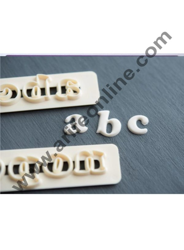Cake Decor Funky Alphabet Number Cutter Set, Cake Decoration ,4Pcs Alphabet Numbers Tappits Cutter Set 2