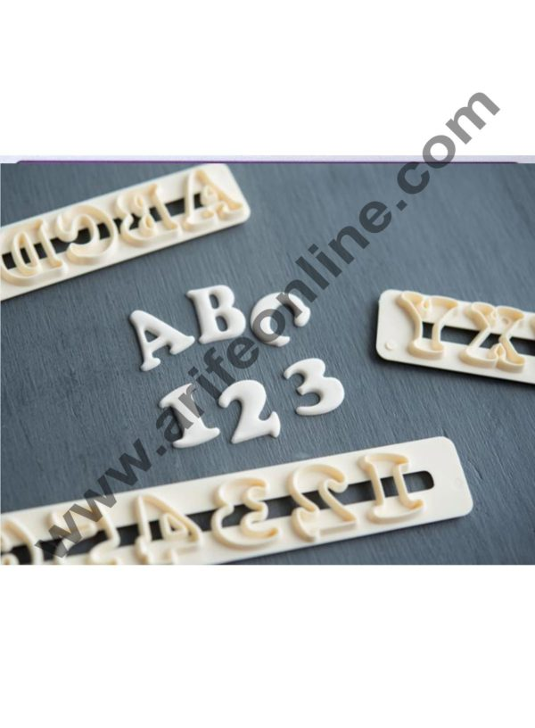 Cake Decor Funky Alphabet Number Cutter Set, Cake Decoration ,4Pcs Alphabet Numbers Tappits Cutter Set 5
