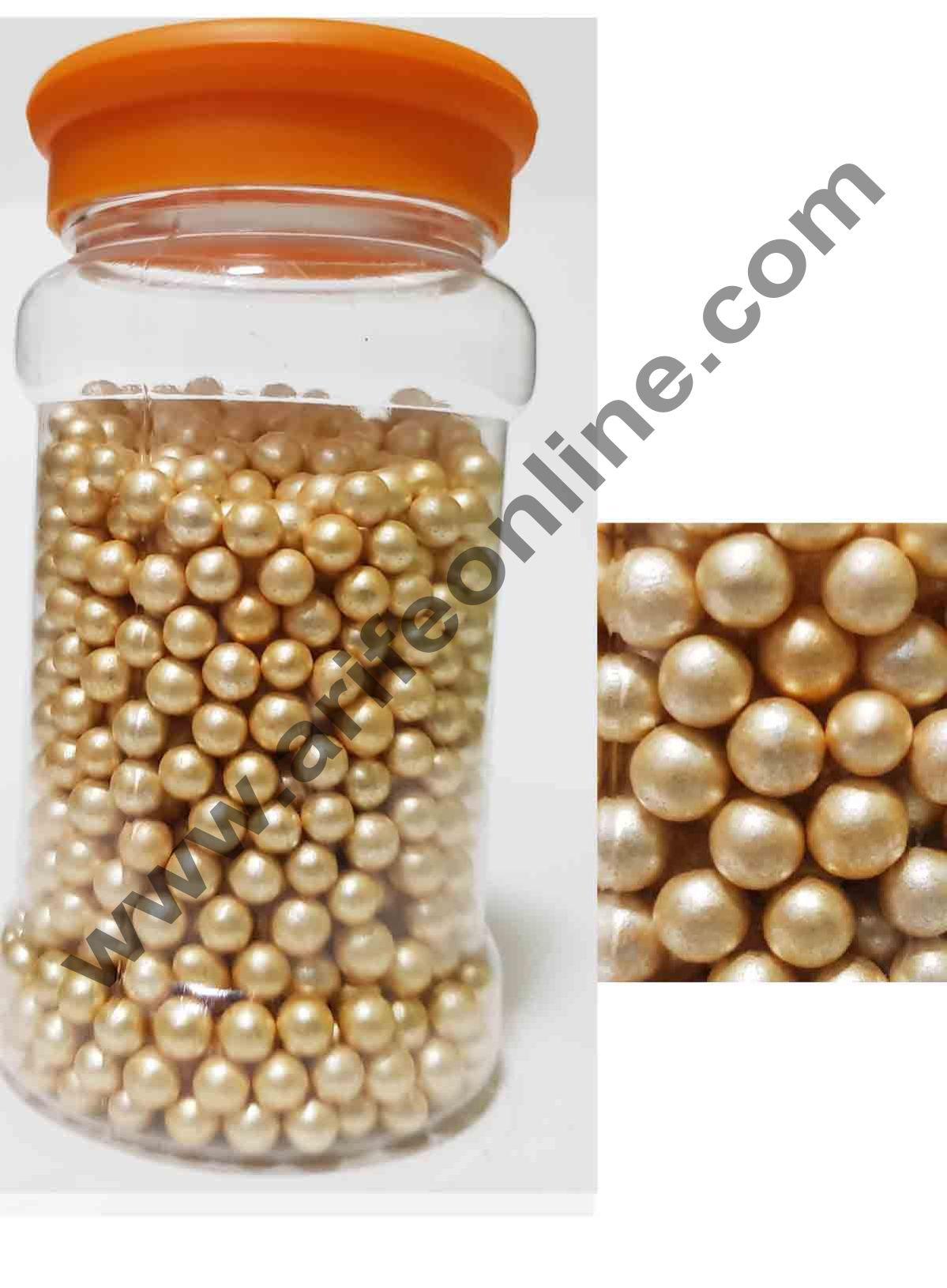Cake Decor Golden Balls Medium Sugar Candy