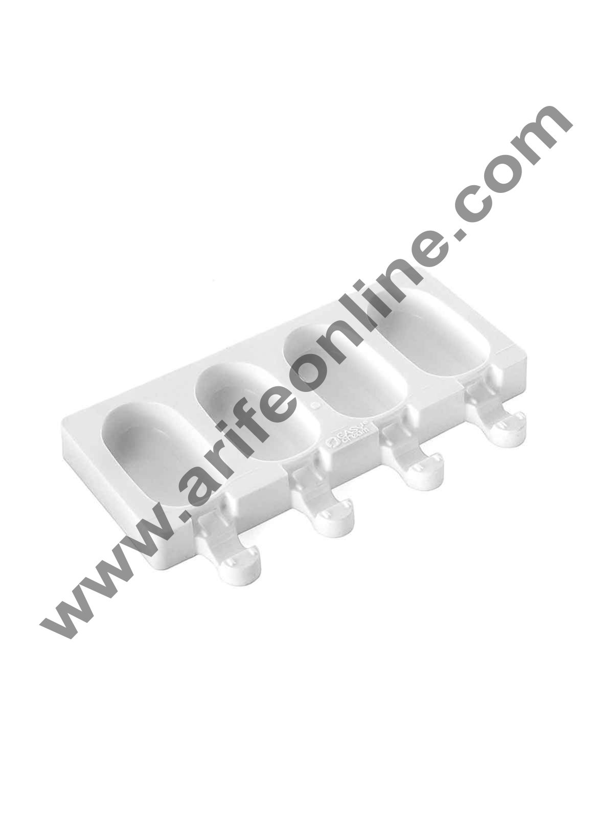 Cake Decor 4Pcs White Classic Silicone Cakesicle Mold Popsicle Easy Ice Cream Bar Mold
