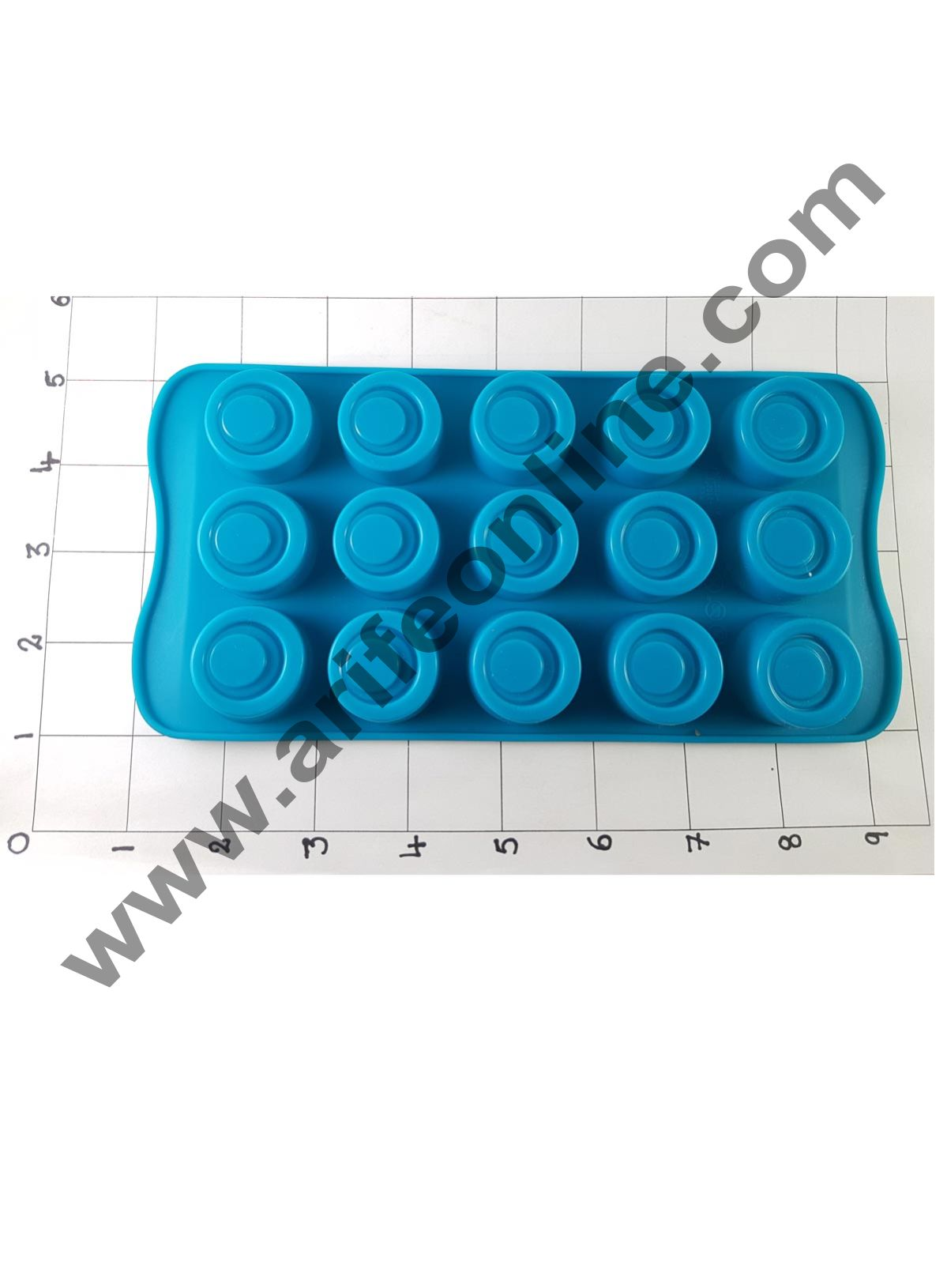 Cake Decor Silicon 15 Cavity Circle Design Brown Chocolate Mould, Ice Mould, Chocolate Decorating Mould