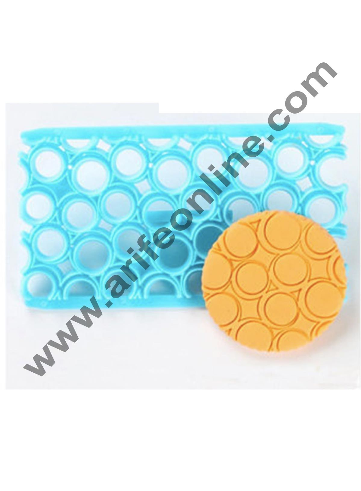 Cake Decor Plastic Round Circle Quilt Mold Embosser Fondant Round Circle Biscuit Mold Cookie Cutter For Cupcake Decoration Cake Decorating Tools