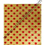 Cake Decor Chocolate Wrappering Foil, Embossed Chocolate Wrapper, 200 Sheets - 10in x 7in - Dotted Gold Red