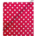 Cake Decor Chocolate Wrappering Foil, Embossed Chocolate Wrapper, 200 Sheets – 10in x 7in – Dotted Red Gold 1
