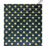 Cake Decor Chocolate Wrappering Foil, Embossed Chocolate Wrapper, 200 Sheets - 10in x 7in - Dotted Black Gold