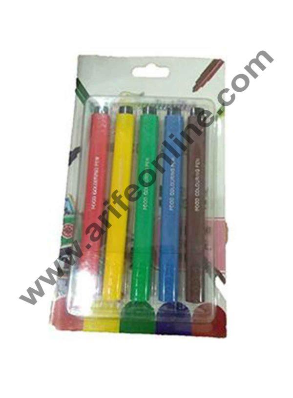 Cake Decor Food Writer Cake Decorating markers Pens, Assorted Colors, Set of 5 Pcs 1