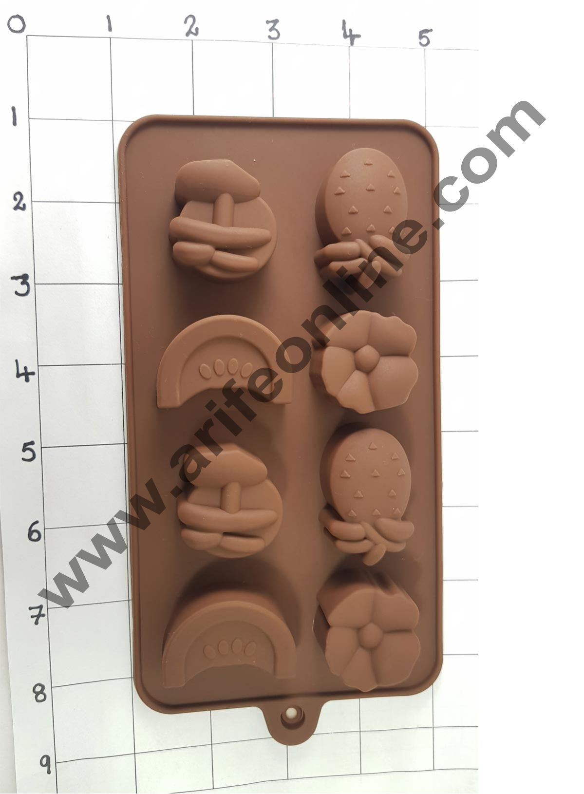 Cake Decor 8 Cavity Silicon Fruits N Flower Shape Ice Mould Cupcake Moulds Muffin Mould Chocolate Mould